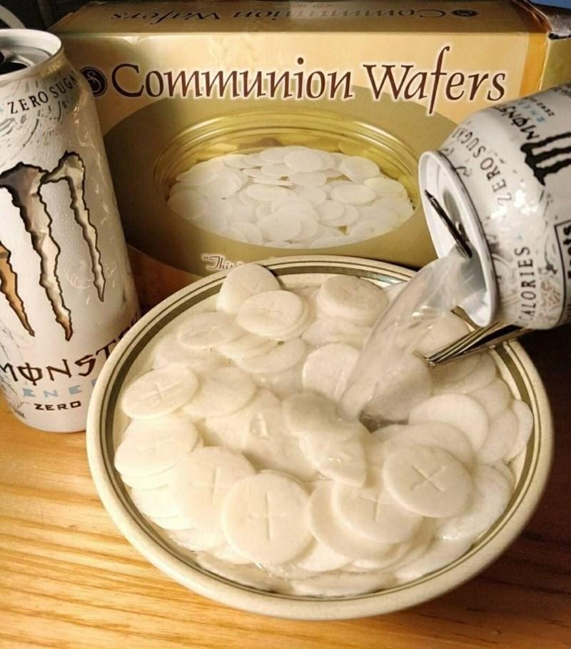 funny meme - Food - Communion Waters ZERO SUGA N NERO ALORIES ERO SUG NOlW