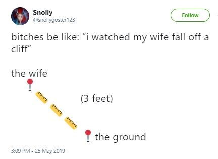 Funny reaction tweet to 'Cliff Wife'