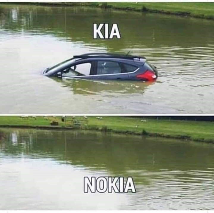 car half submerged in pond KIA no car just pond NOKIA