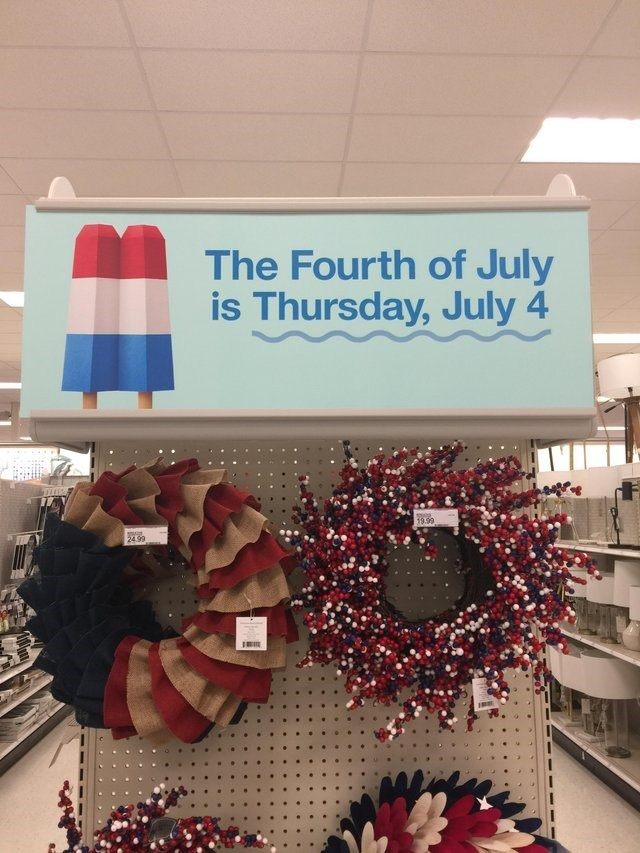 Christmas decoration - The Fourth of July is Thursday, July 4 19.99 24.99