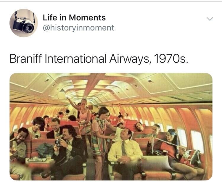 Interesting history photo - Team - Life in Moments @historyinmoment Braniff International Airways, 1970s.