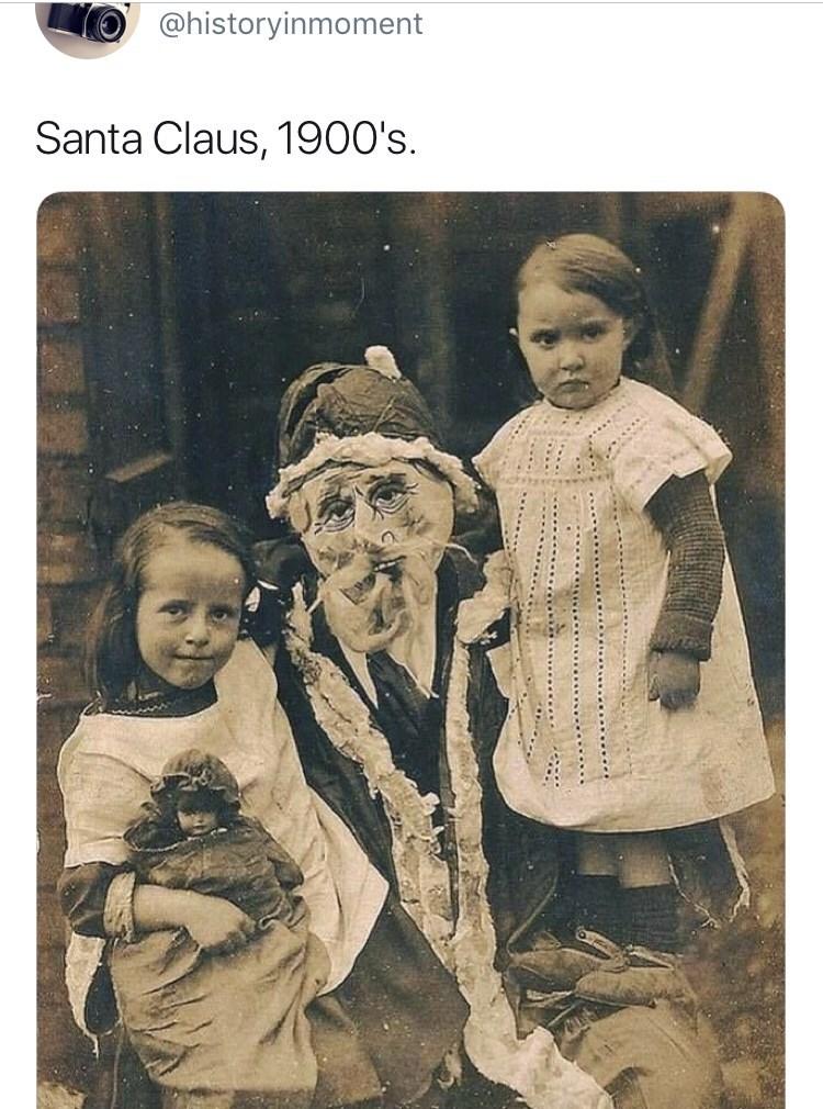 Interesting history photo - Photograph - @historyinmoment Santa Claus, 1900's.