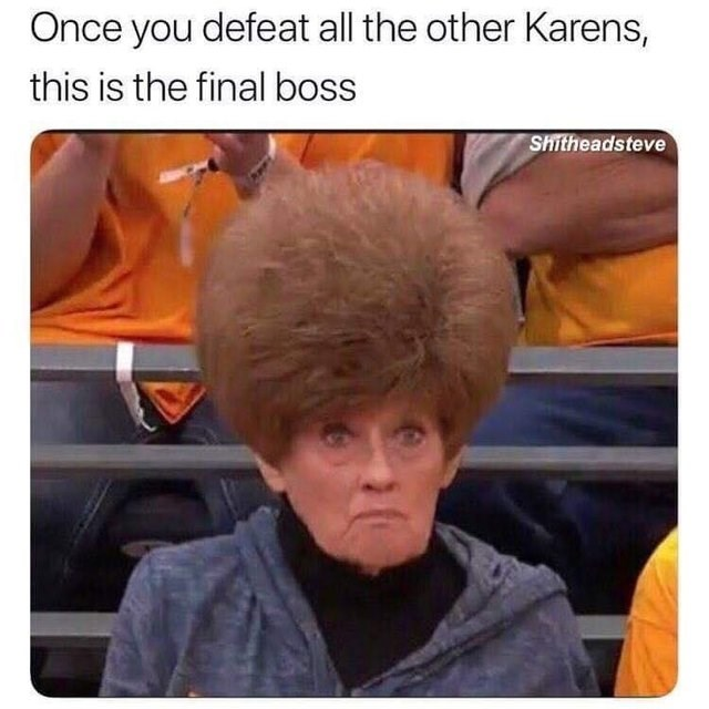 goofy meme - Hair - Once you defeat all the other Karens, this is the final boss Shitheadsteve