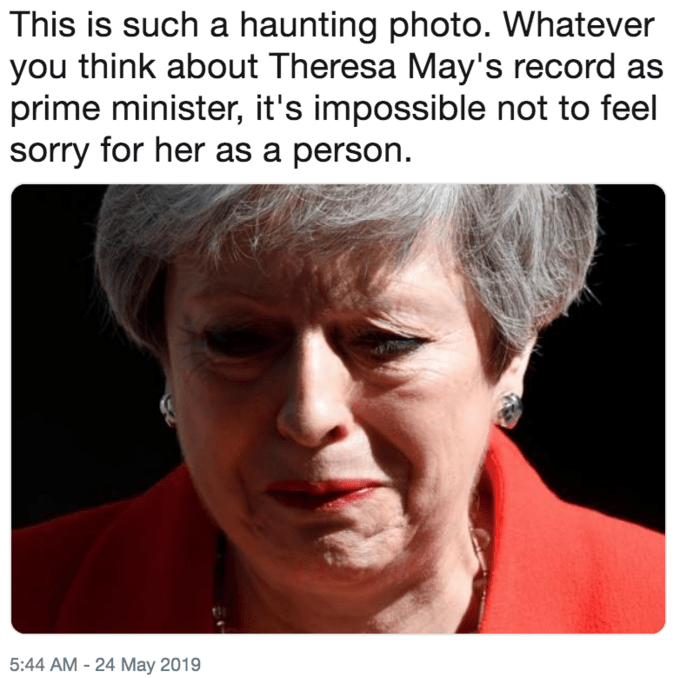 Funny 'This Is Such a Haunting Photo' meme - Theresa May