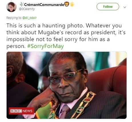 Funny 'This Is Such a Haunting Photo' meme - Robert Mugabe