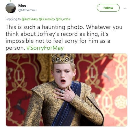 Funny 'This Is Such a Haunting Photo' meme - Game of Thrones, Joffrey