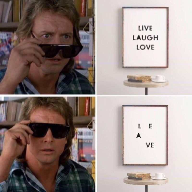 Eyewear - LIVE DRI LAUGH LOVE LE CAR DRI A VE