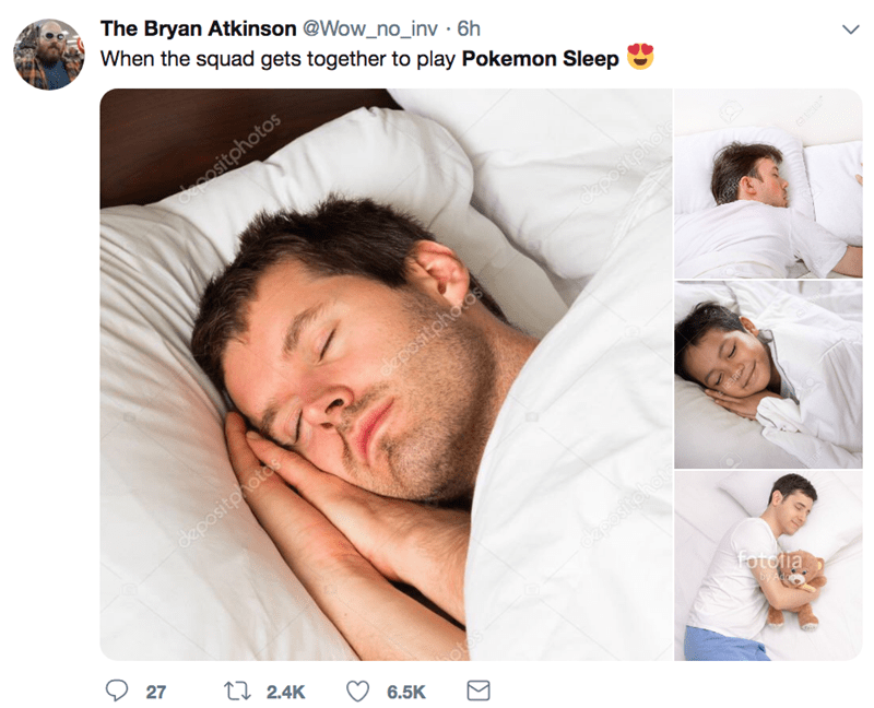 Product - The Bryan Atkinson @Wow_no_inv 6h When the squad gets together to play Pokemon Sleep decositphotos dapositphot cpositphotos depositphotos aoositohot 27 t 2.4K Τσuo a otos 6.5K by Adope Cadee