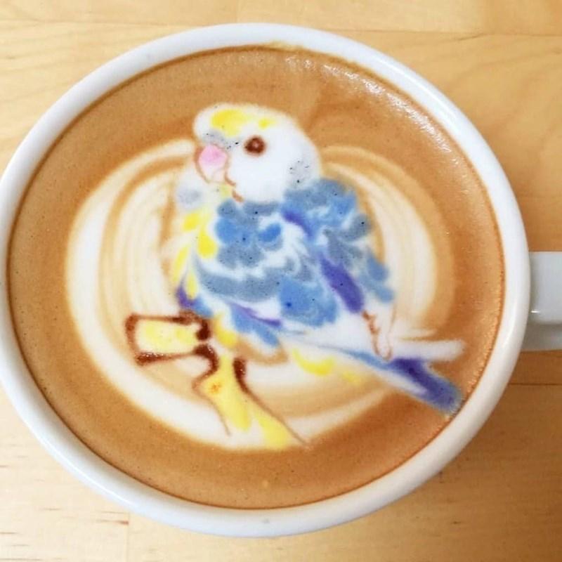 coffee bird art - Coffee cup