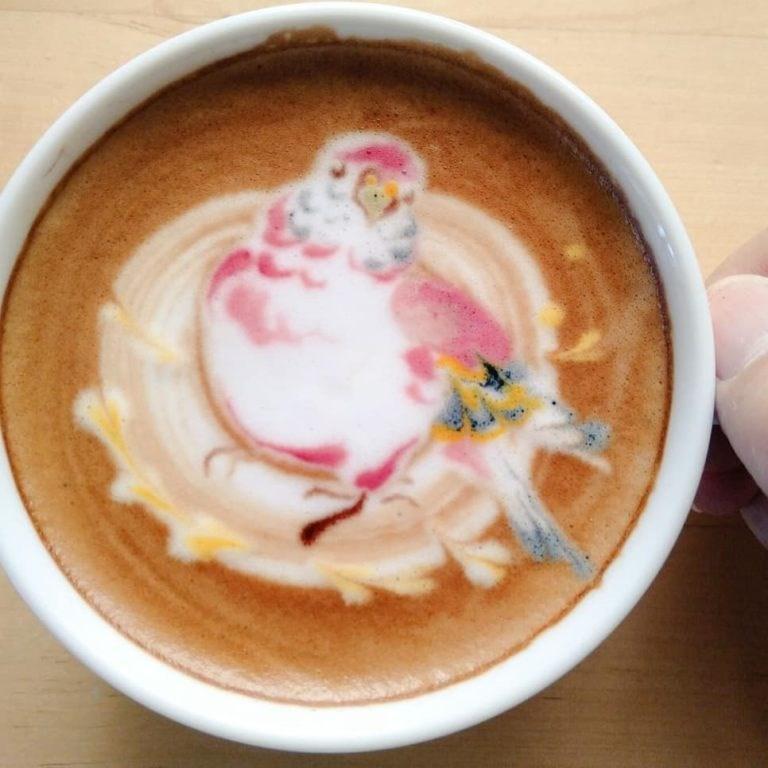 coffee bird art - Cup