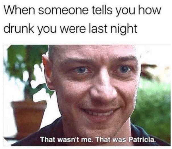 """That wasn't me, that was patricia"" split memes, james mcavoy."