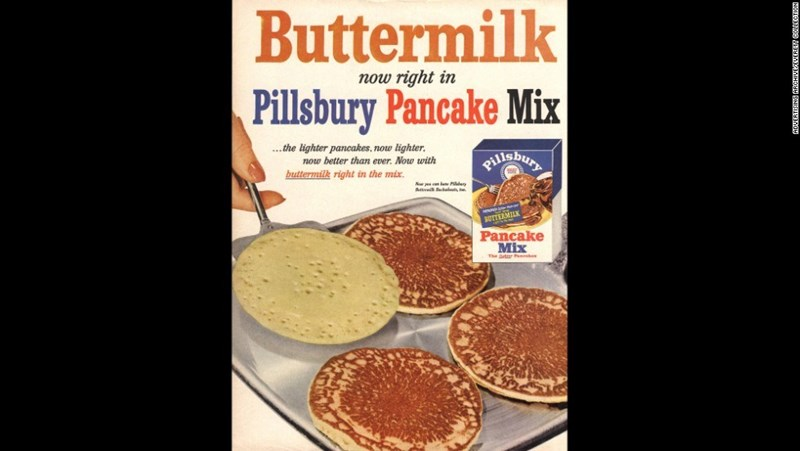 vintage advertisement - Food - Buttermilk now right in Pillsbury Pancake Mix .the lighter pancakes, now lighter PHiGbuny now better than ever. Now with buttermilk right in the mix. BUTTERMILK Pancake Mix The Betrer h NOngEnne SING ARCHIVEMEVERETI NISILUSMOU