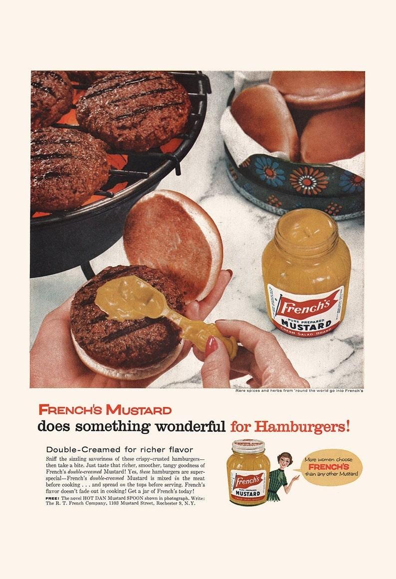 vintage advertisement - Food - Frenchs URE PREeaRED USTARD CHEAM SALAD