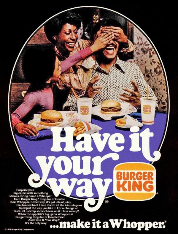 vintage advertisement - Poster - BURGER KING BURCER KING UNG Haveit Syour BURGER wavkING