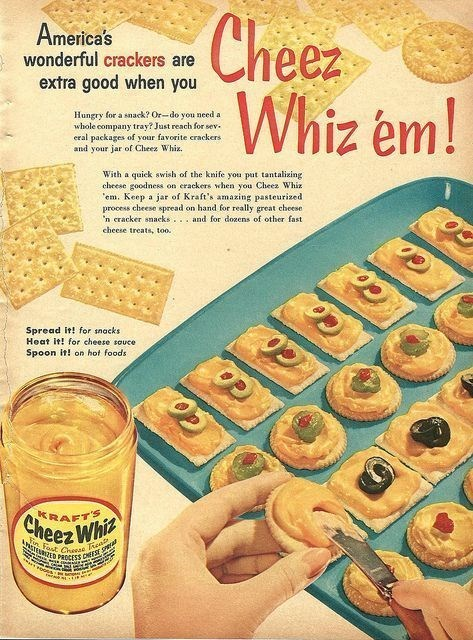 vintage advertisement - Food - Cheez Whiz em! America's wonderful crackers are extra good when you