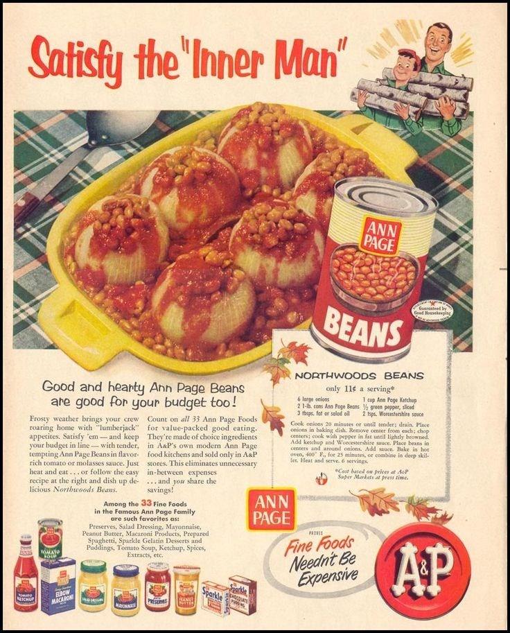"""vintage advertisement - Food - Satisty the 'Inner Man"""""""