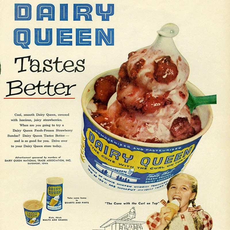 vintage advertisement - Food - DAIRY QUEEN Tastes Better