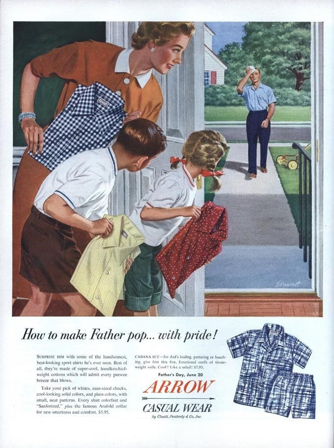 Original advertisement that inspired the 'Waiting for Dad' meme