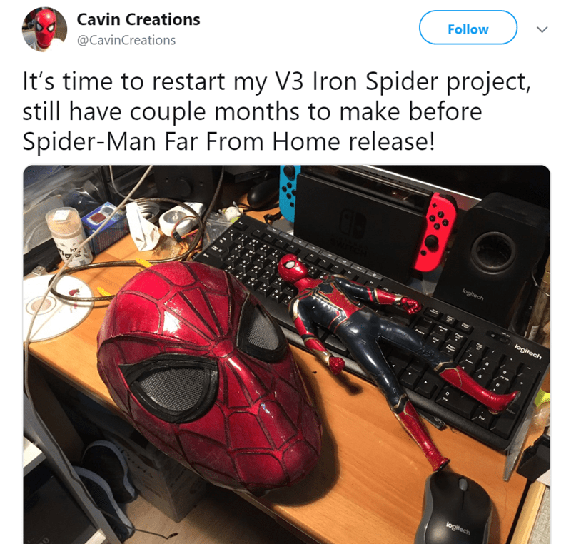 Vehicle - Follow Cavin Creations It's time to restart my V3 Iron Spider project, still have couple months to make before Spider-Man Far From Home release! @CavinCreations logitech logitech logitech