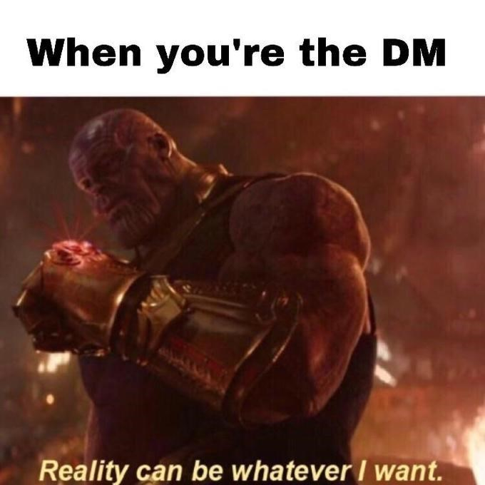Thanos memes, reality can be whatever i want, reality stone.