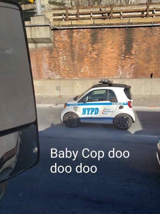 Motor vehicle - POLICE NYPD Baby Cop doo doo doo