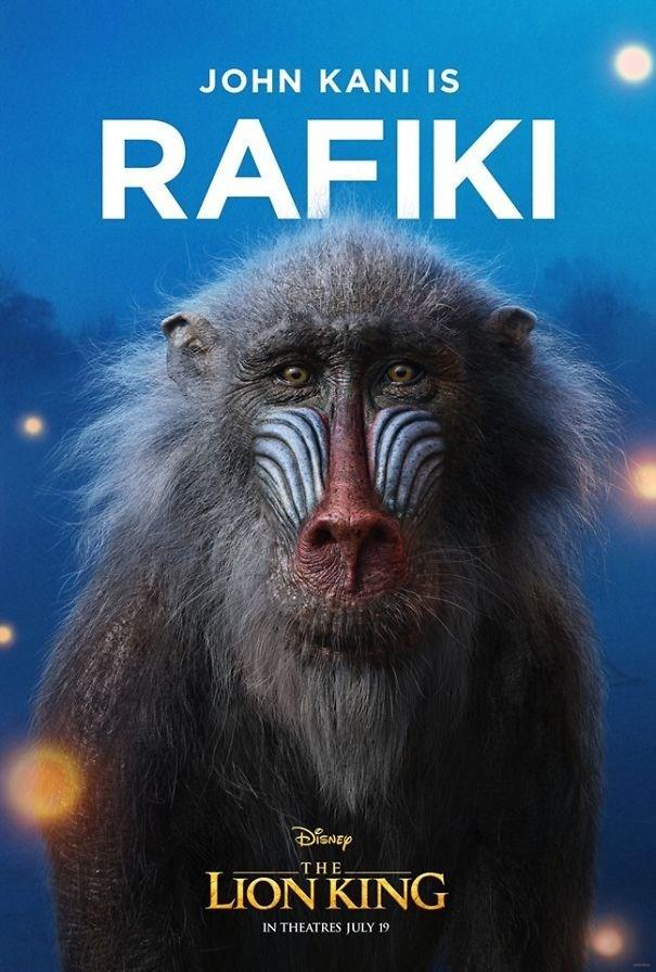 Old world monkey - JOHN KANI IS RAFIKI THE LION KING IN THEATRES JULY 19