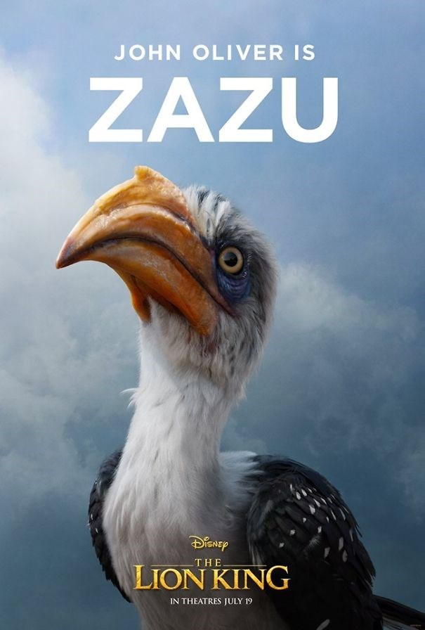 Bird - JOHN OLIVER IS ZAZU DiSNEP THE LION KING IN THEATRES JULY 19