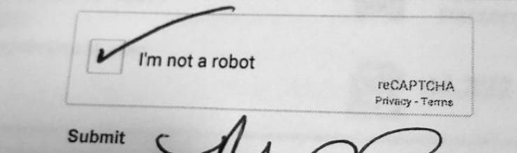 Text - I'm not a robot reCAPTCHA Privacy-Terns Submit