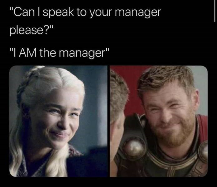 """karen meme - Face - """"Can I speak to your manager please?"""" """"I AM the manager"""""""