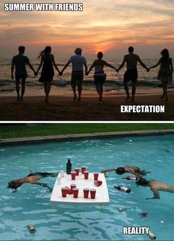 Friendship - SUMMER WITH FRIENDS EXPECTATION REALITY