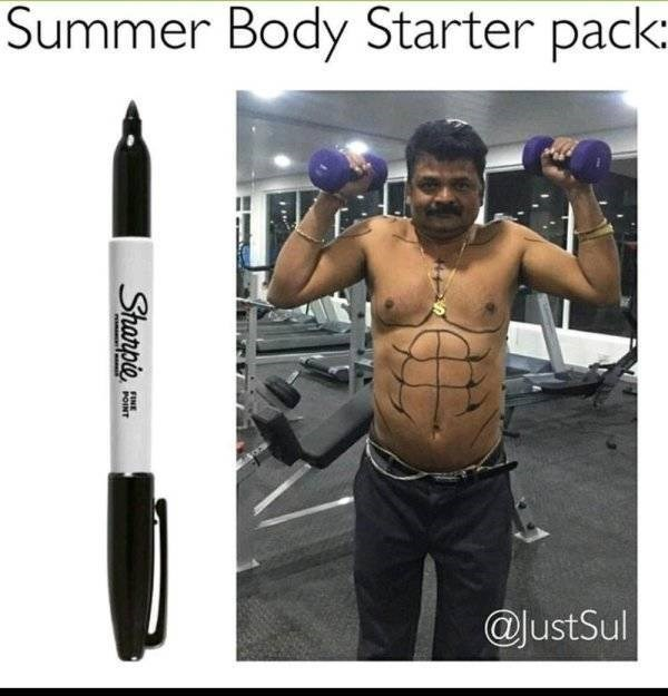 Product - Summer Body Starter pack: JustSul Sharpie EINE POINT