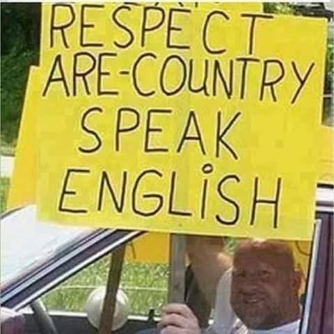 english language - Yellow - RESPECT ARE-COUNTRY SPEAK ENGLISH