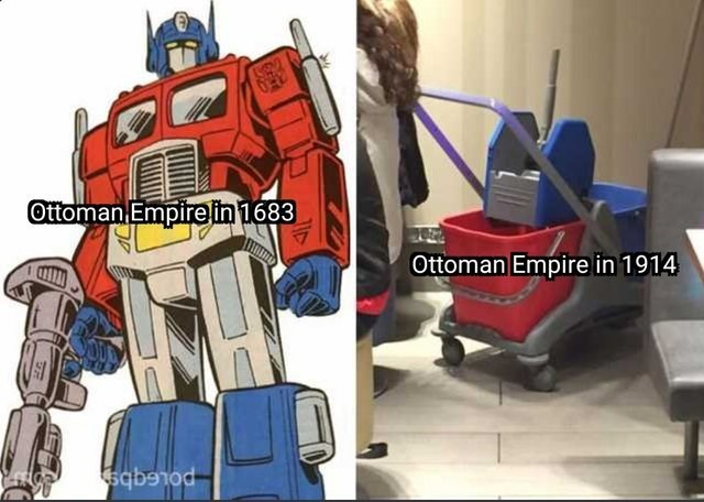 history meme - Transformers - Ottoman Empire in 1683 Ottoman Empire in 1914 poLEgb