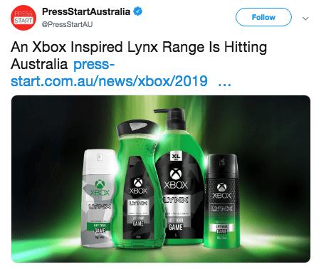 Product - FRPSSPressStartAustralia START PressStartAU Follow An Xbox Inspired Lynx Range Is Hitting Australia press- start.com.au/news/xbox/2019 .. XL XBOX XBOX XBOX XBOX L UF YER GANE GAME IFIR GAME AVE >