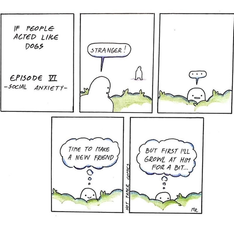 If people acted like dogs comic