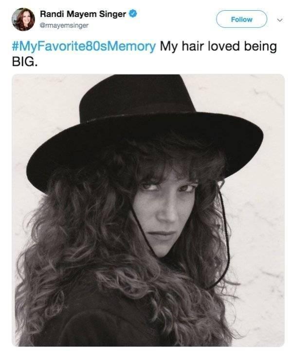 Clothing - Randi Mayem Singer Follow @rmayemsinger #MyFavorite80sMemory My hair loved being BIG