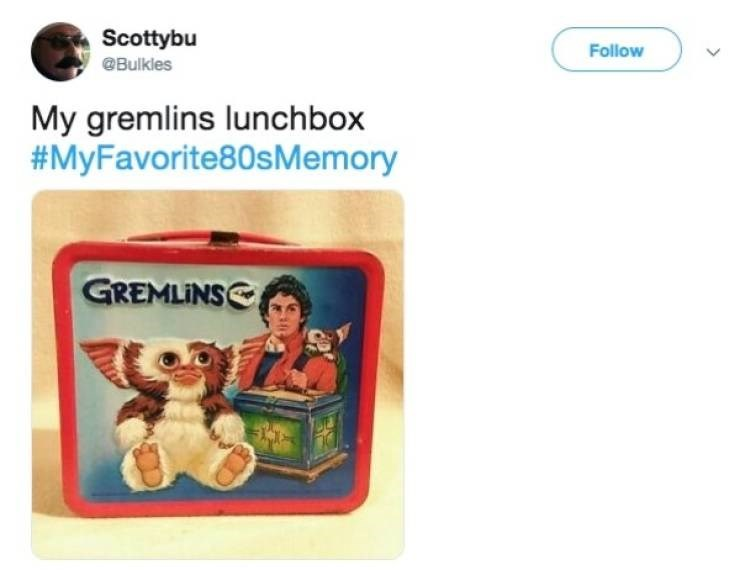 Product - Scottybu Follow @Bulkles My gremlins lunchbox #MyFavorite80sMemory GREMLINS