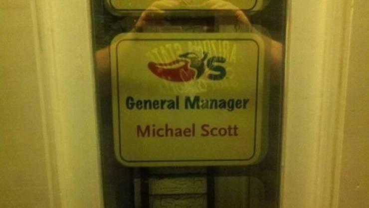 work meme - Signage - s General Manager Michael Scott