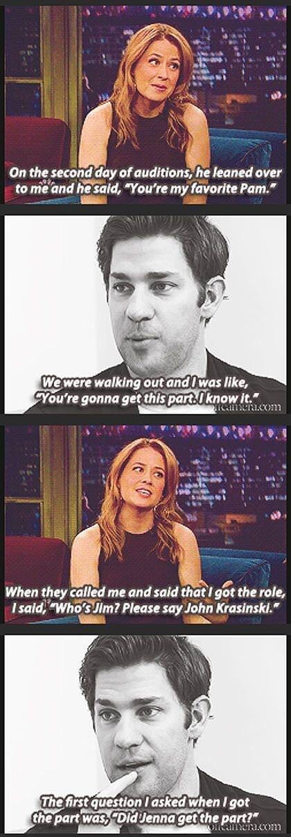 pam late night show interview jim the office memes