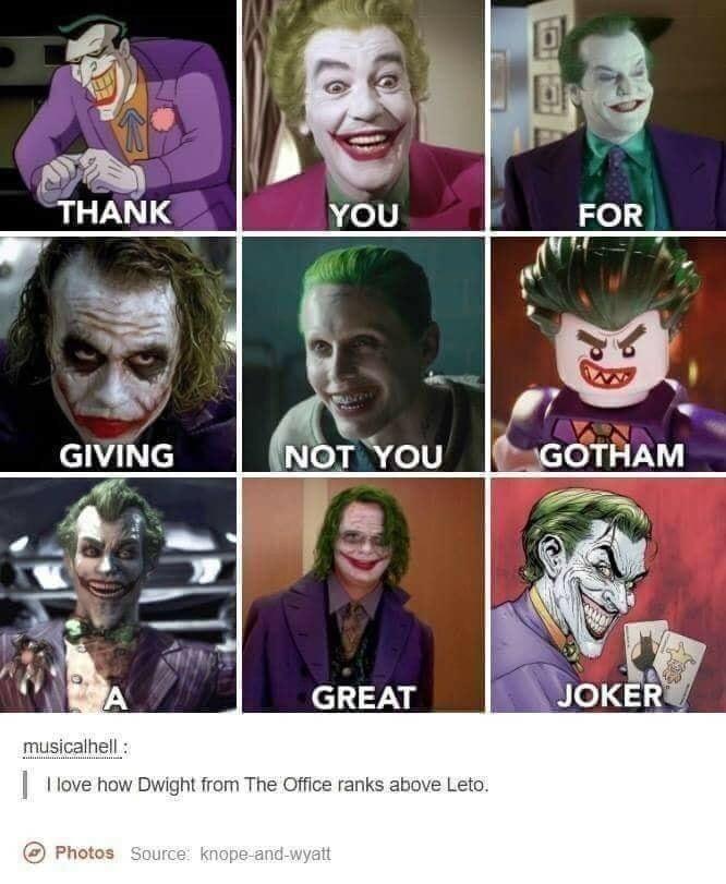 the joker dwight the office memes