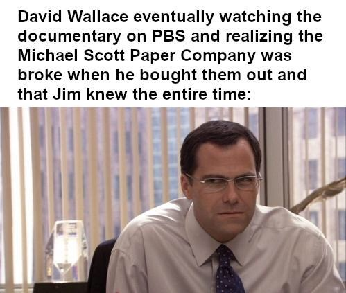 david wallace suspicious the office memes