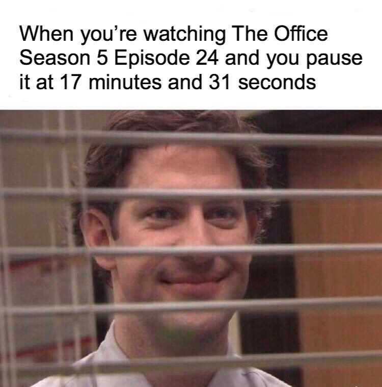 jim behind blinds the office memes