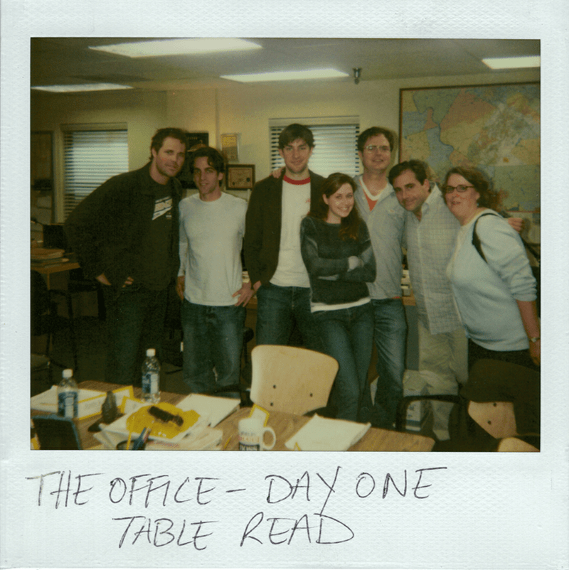 Polaroid picture office cast the office memes