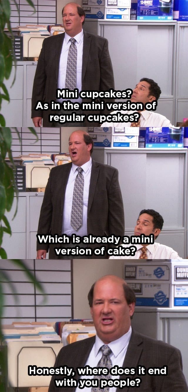 kevin cupcakes mini cake the office memes