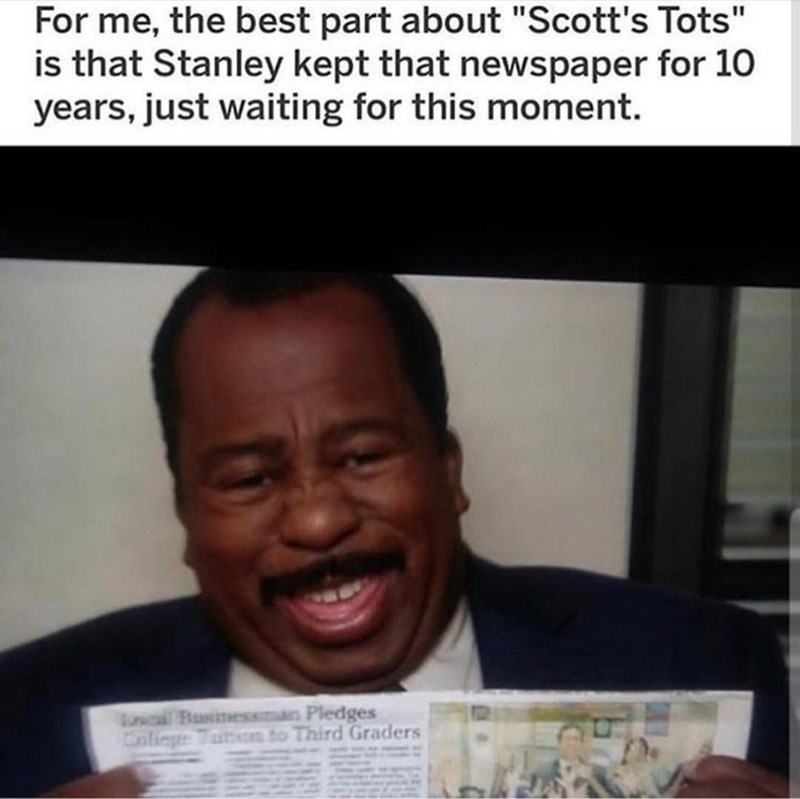 stanley newspaper the office memes