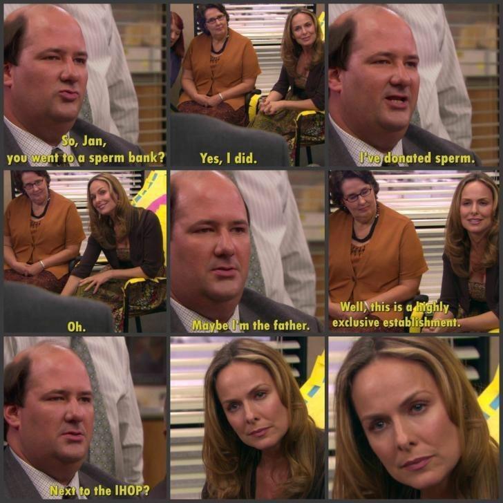 kevin jan sperm the office memes