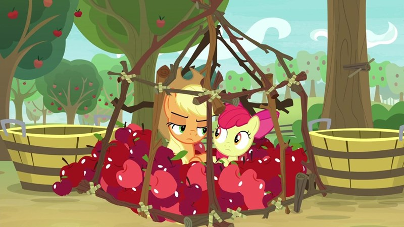 Mad Max applejack apple bloom screencap going to seed - 9316168704