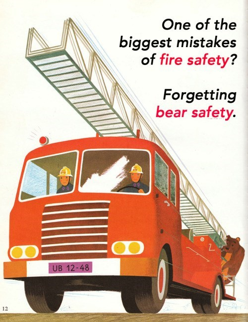 Land vehicle - One of the biggest mistakes of fire safety? Forgetting bear safety. UB 12-48 12