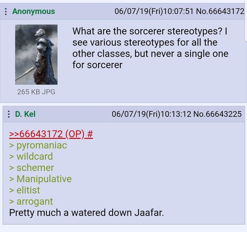 funny meme about sorcerer stereotypes in dungeons and dragons