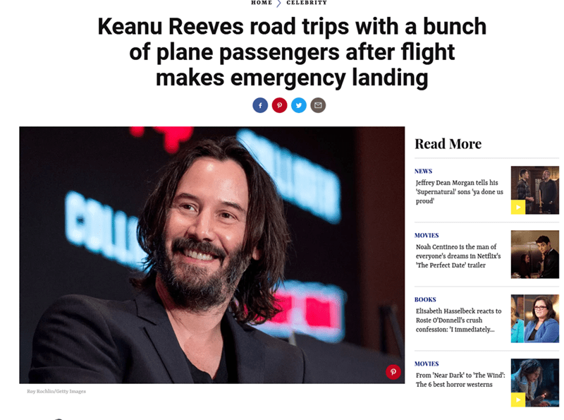 Funny Keanu Reeves meme about the release of the Cyberpunk 2077 trailer